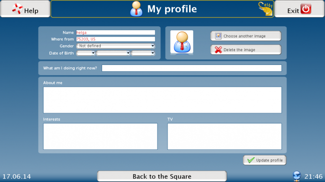Set up your profile information and photo