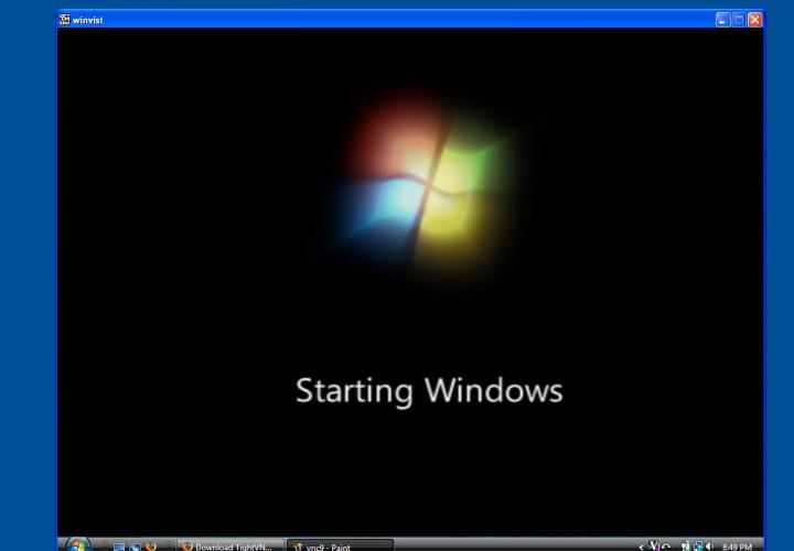 VNC Connected to Windows Vista