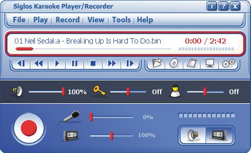 Player siglos karaoke