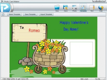 The app to create a card for Saint Valentine's Day