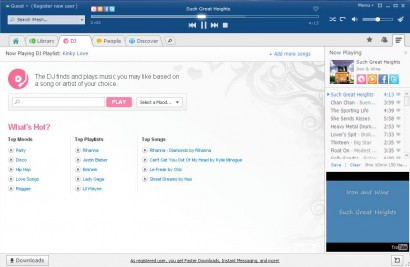 File sharing music streaming desktop client iMesh