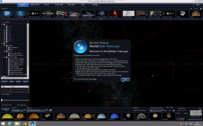 WorldWide Telescope Main Interface