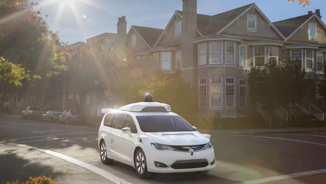 Waymo's minivan on the road