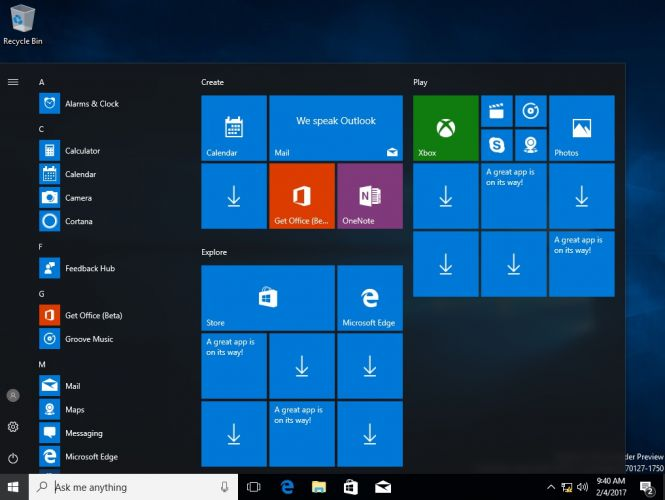 The Cloud looks and feels like a stripped-down Windows 10