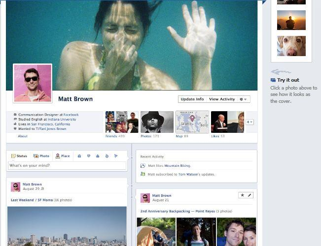 New Facebook Timeline Profile