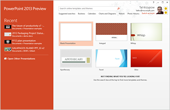 PowerPoint 2013 Window Design