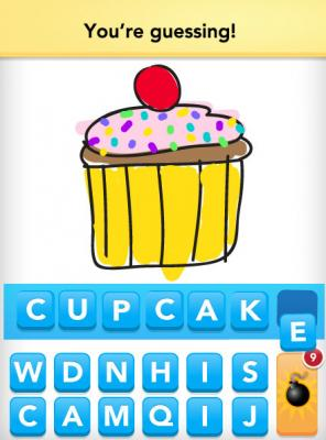 Someone's guessing the word 'Cupcake'