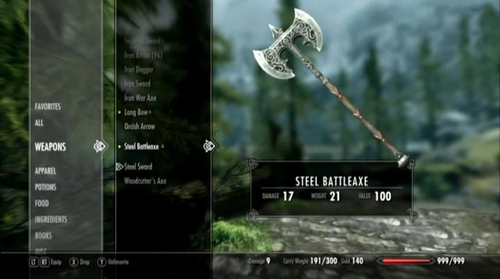 Skyrim Inventory: Pretty Models Instead of Lucidity